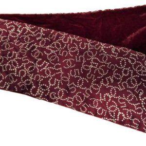 NWOT CHANEL CC Red Burgundy Silk Velvet Scarf